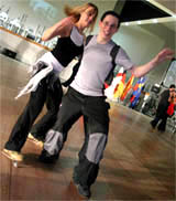 Dancing With Célia during the 2004 World Championship in Toulouse